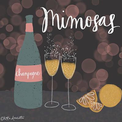 Mimosas Art Print by Katie Doucette