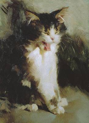 Painting - Mina Yawning by Susan Lyon