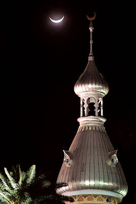 Photograph - Minaret And Moon Over Tampa II by Daniel Woodrum
