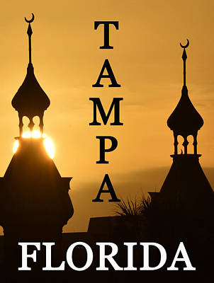 Crescent City Digital Art - Minarrets Over Tampa Florida by David Lee Thompson