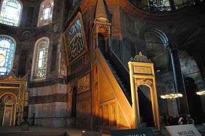 Photograph - Minbar Of Hagia Sophia by Jacqueline M Lewis