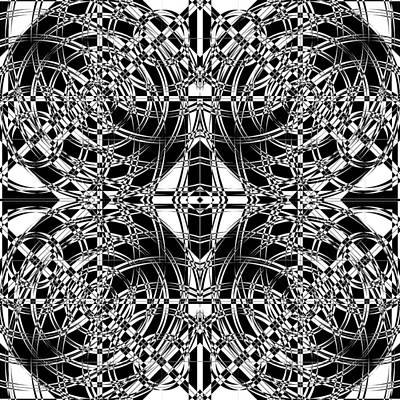 Optical Illusion Digital Art - B W Sq 10 by Mike McGlothlen