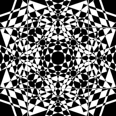 Mind Digital Art - B W Sq 2 by Mike McGlothlen