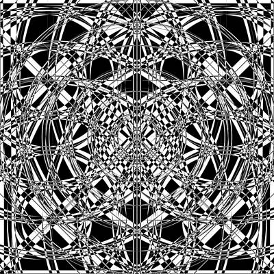 Optical Illusion Digital Art - B W Sq 4 by Mike McGlothlen