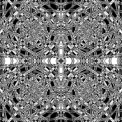 Optical Illusion Digital Art - B W Sq 5 by Mike McGlothlen