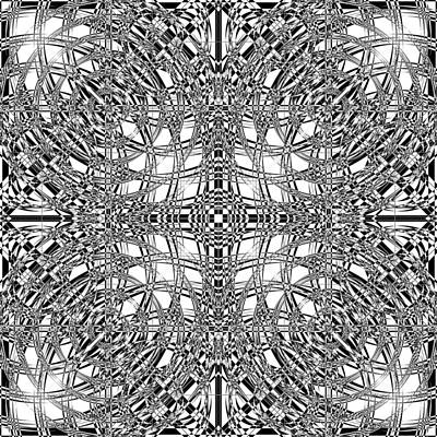 Optical Illusion Digital Art - B W Sq 9 by Mike McGlothlen