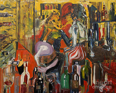 Wine Rack Painting - Mind That Hot Tea by James Lavott