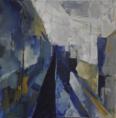 Urban Landscape Painting - Mind The Gap 1401 by Anastasia Karandinou