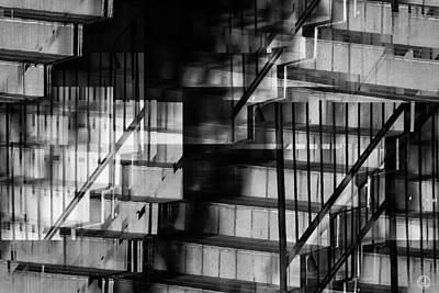 Staircase Digital Art - Mind Your Steps by Gun Legler
