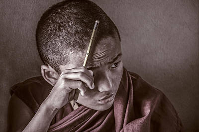 Photograph - Mindful Monk by Valerie Rosen