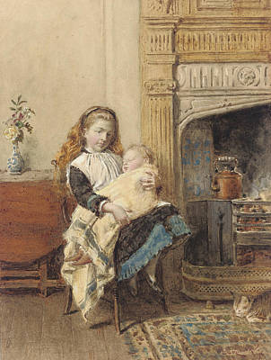Pride Painting - Minding Baby by George Goodwin Kilburne