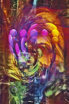 Abstract Movement Digital Art - Mindscape by Linda Sannuti