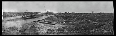 Verdun Photograph - Mine Crater, On The Road Between, Etain by Fred Schutz Collection