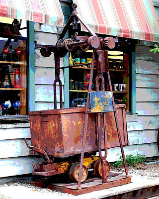 Photograph - Mine Trolley by Charlie and Norma Brock