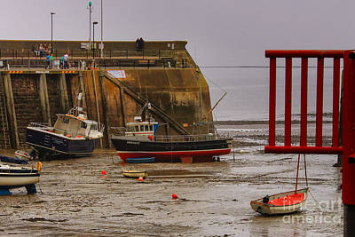 Photograph - Low Tide-minehead Harbor-uk  by Rene Triay Photography