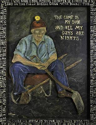 Painting - Miner - Lamp Is My Sun by Eric Cunningham
