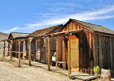 Photograph - Miner Shacks by Marilyn Diaz
