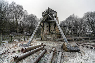Engine House Photograph - Minera Lead Mines by Adrian Evans