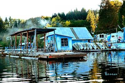 Photograph - Mineral Lake W A Boathouse by Sadie Reneau