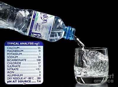 Mineral Water And Its Mineral Content Art Print by Martyn F. Chillmaid