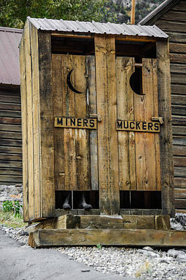 Photograph - Miners And Muckers Outhouse by Sue Smith