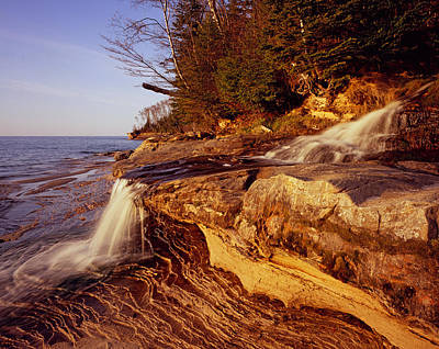Photograph - Miners Beach Falls by Tom Daniel