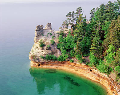 Lake Superior Wall Art - Photograph - Miners Castle In Pictured Rocks by Danita Delimont
