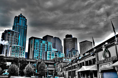 Seattle Waterfront Photograph - Miner's Landing On Pier 57 - Seattle Washington by David Patterson