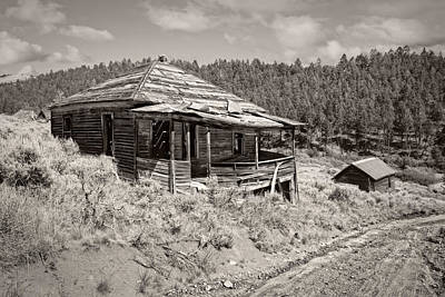 Miner's Shack - Comet Ghost Mine - Montana Art Print by Daniel Hagerman