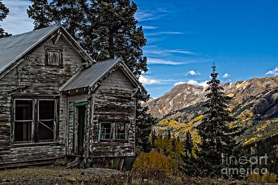 Photograph - Miner's Shack by Jim McCain