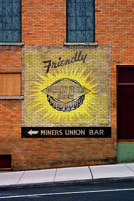 Photograph - Miners Union Bar by Daniel Woodrum