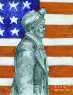 Old Glory Mixed Media - Miners United by Madeline Moore