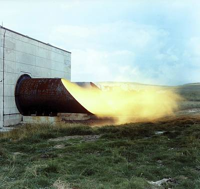 Mines Explosion Test Facility Art Print by Crown Copyright/health & Safety Laboratory Science Photo Library