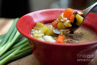 Photograph - Minestrone Vegetable Soup by Gunter Nezhoda