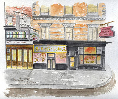 Greenwich Village Painting - Minetta Tavern  Greenwich Village by AFineLyne