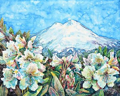 Painting - Mingi Taw. On A Bed Of Rhododendrons by Zaira Dzhaubaeva