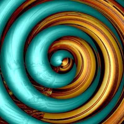 Mingle - Aqua Art Print by Wendy J St Christopher