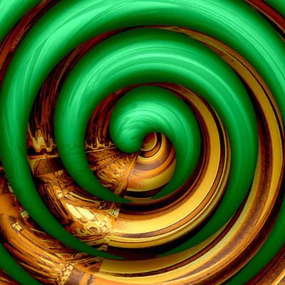 Mingle - Green    Art Print by Wendy J St Christopher