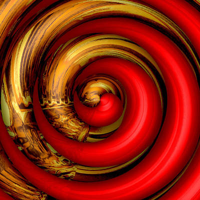 Digital Art - Mingle - Red by Wendy J St Christopher