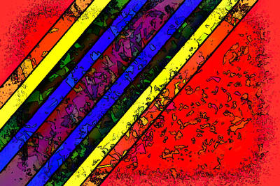 Digital Art - Mingling Stripes by Bartz Johnson