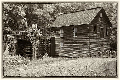 Grist Mill Photograph - Mingus Mill Antiqued by Stephen Stookey