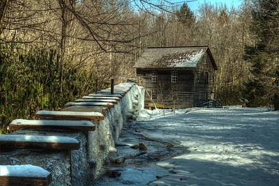 Target Threshold Nature - Mingus Mill IN Snow And Ice by Carol Montoya