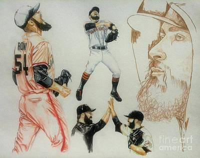 Sergio Romo Painting - Mini Beard/ The Legacy Lives On by Phil  King