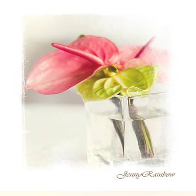Mini Bouquet With Anthurium. Elegant Knickknacks From Jennyrainbow Art Print by Jenny Rainbow