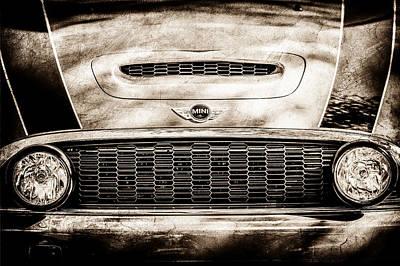 Car Emblems Photograph - Mini Car Grille Emblem -0558s by Jill Reger