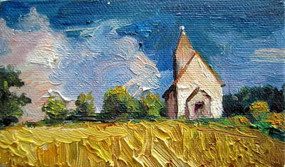 Art Print featuring the painting Mini Church by Jieming Wang