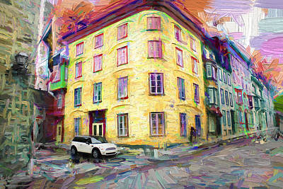 Photograph - Mini Cooper In Old Quebec by Carlos Diaz