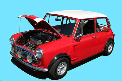 Photograph - Mini Cooper In Red And White by John Orsbun