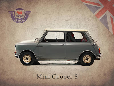 Mini Photograph - Mini Cooper S 1965 by Mark Rogan