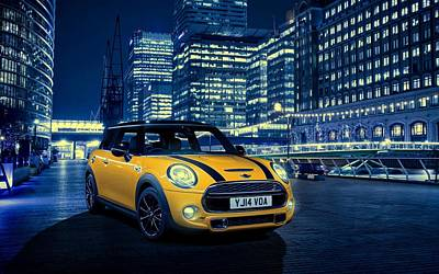 Cabin Wall Photograph - Mini Cooper S 2014 by Movie Poster Prints